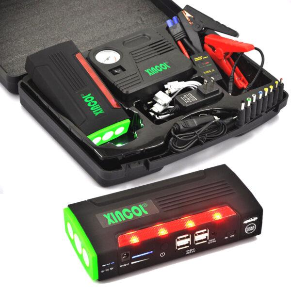Xincol-X9-car-battery-jump-starter-green